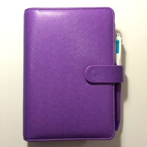 front of my purple personal saffiano