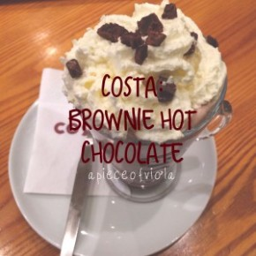 Blogmas Day Twenty Two/Review | Costa's Brownie Hot Chocolate