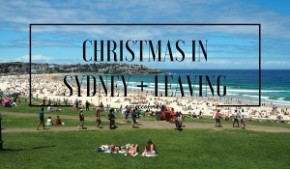 Christmas in Sydney andleaving