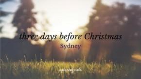 Three days before Christmas |Sydney
