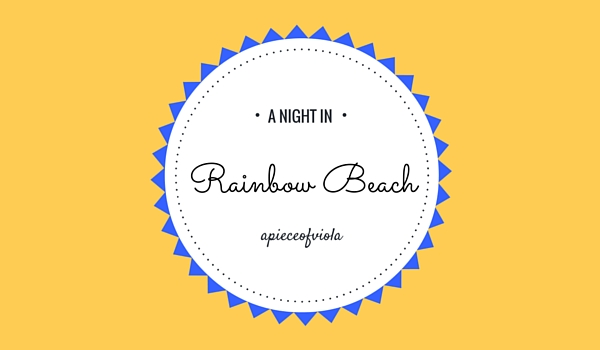 a night in rainbow beach
